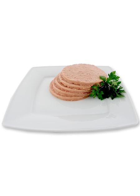 Raw beef hamburger