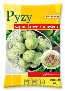 Potato dumplings with spinach and meat